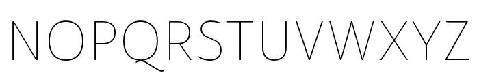 Ainslie Sans Cond Thin Font UPPERCASE