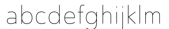 Ainslie Sans Cond Thin Font LOWERCASE