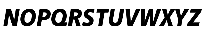 Akagi Pro Black Italic Font UPPERCASE