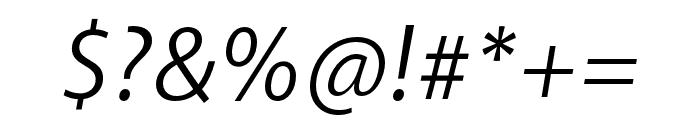 Akagi Pro Book Italic Font OTHER CHARS