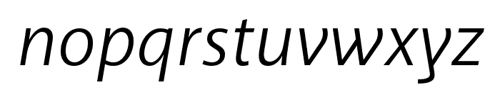 Akagi Pro Book Italic Font LOWERCASE