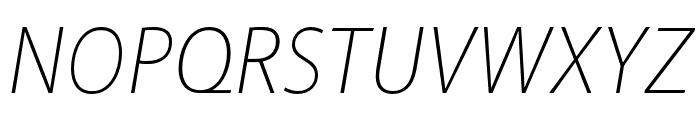 Akagi Pro ExtraLight Italic Font UPPERCASE