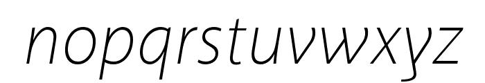 Akagi Pro ExtraLight Italic Font LOWERCASE