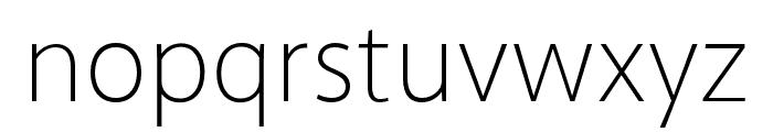 Akagi Pro ExtraLight Font LOWERCASE