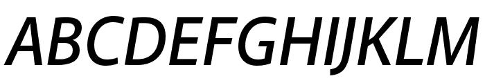 Akagi Pro SemiBold Italic Font UPPERCASE