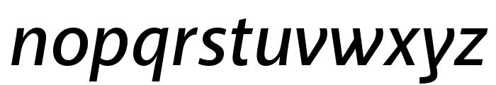 Akagi Pro SemiBold Italic Font LOWERCASE
