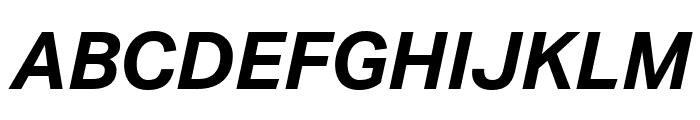 Aktiv Grotesk Bold Italic Font UPPERCASE