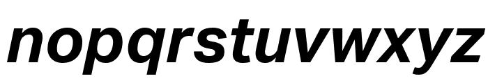Aktiv Grotesk Bold Italic Font LOWERCASE