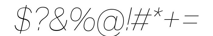 Aktiv Grotesk Cd Thin Italic Font OTHER CHARS