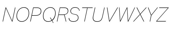 Aktiv Grotesk Cd Thin Italic Font UPPERCASE