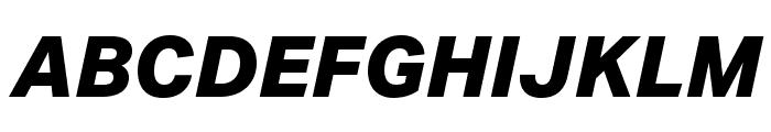 Aktiv Grotesk Cd XBold Italic Font UPPERCASE