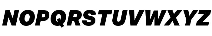 Aktiv Grotesk Ex Black Italic Font UPPERCASE