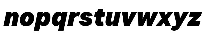 Aktiv Grotesk Ex Black Italic Font LOWERCASE