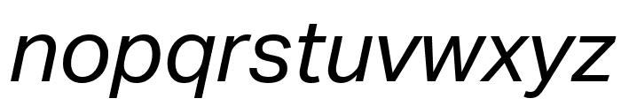 Aktiv Grotesk Ex Italic Font LOWERCASE