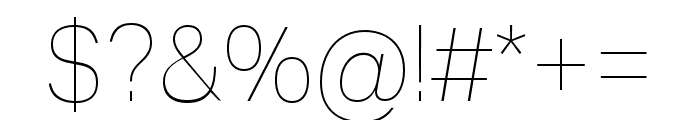 Aktiv Grotesk Ex Thin Font OTHER CHARS
