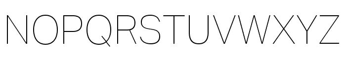 Aktiv Grotesk Ex Thin Font UPPERCASE