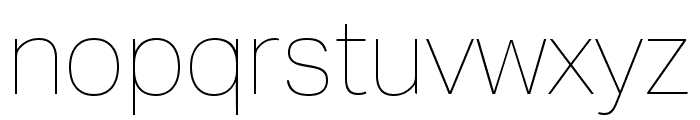 Aktiv Grotesk Ex Thin Font LOWERCASE
