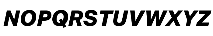Aktiv Grotesk Ex XBold Italic Font UPPERCASE