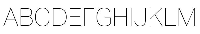 Aktiv Grotesk Hairline Font UPPERCASE