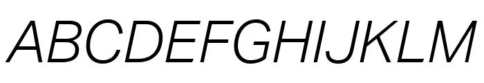 Aktiv Grotesk Light Italic Font UPPERCASE
