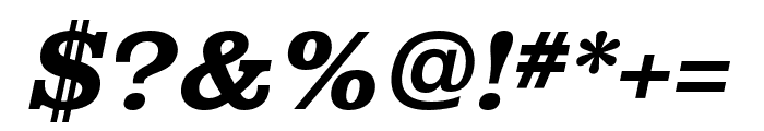 Albiona Bold Italic Font OTHER CHARS