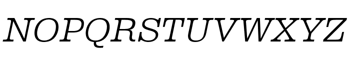 Albiona ExtraLight Italic Font UPPERCASE