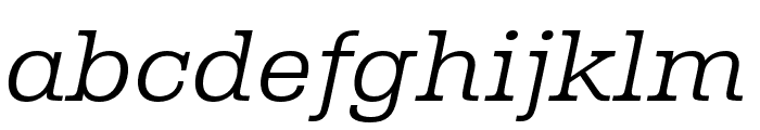 Albiona ExtraLight Italic Font LOWERCASE