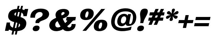 Albiona Heavy Italic Font OTHER CHARS