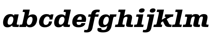 Albiona Heavy Italic Font LOWERCASE