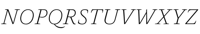 Alda OT CEV Light Italic Font UPPERCASE
