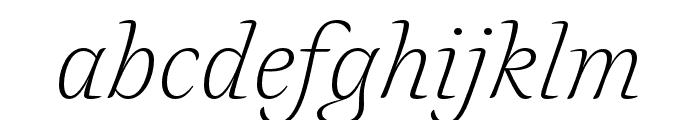 Alda OT CEV Light Italic Font LOWERCASE