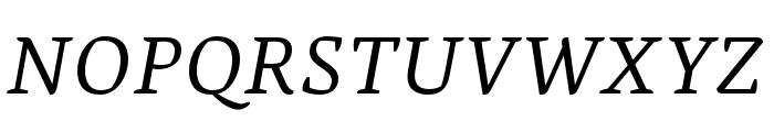 Alda OT CEV Regular Italic Font UPPERCASE