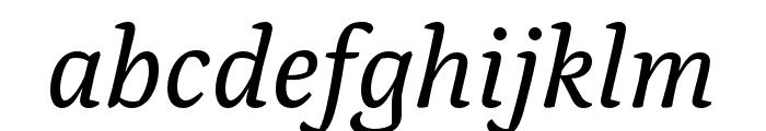 Alda OT CEV Regular Italic Font LOWERCASE