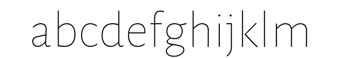 Alegreya Sans Light Italic Font LOWERCASE