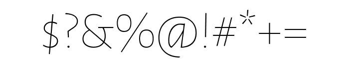 Alegreya Sans SC Italic Font OTHER CHARS