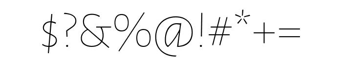 Alegreya Sans SC Light Italic Font OTHER CHARS