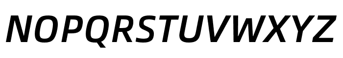 Alibaba Sans Medium Italic Font UPPERCASE