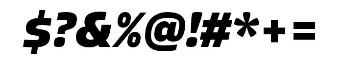 Allotrope ExtraBold Italic Font OTHER CHARS