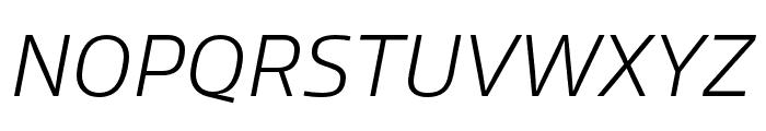 Allotrope ExtraLight Italic Font UPPERCASE