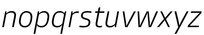 Allotrope ExtraLight Italic Font LOWERCASE
