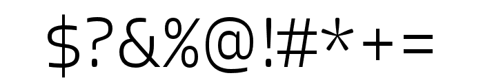 Allotrope ExtraLight Font OTHER CHARS