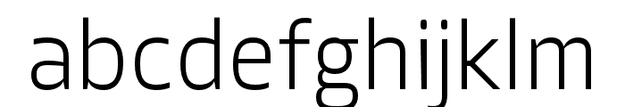 Allotrope ExtraLight Font LOWERCASE