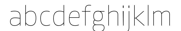 Allotrope Light Italic Font LOWERCASE