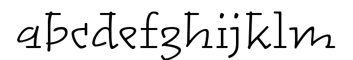 Alphatier Pro Light Font LOWERCASE