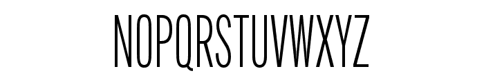 Alternate Gothic Compressed ATF Semilight Font UPPERCASE