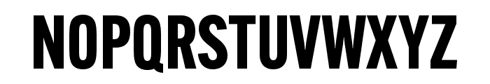 Alternate Gothic Condensed ATF Bold Font UPPERCASE