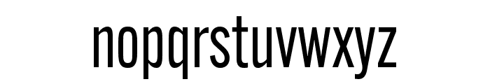 Alternate Gothic Condensed ATF Regular Font LOWERCASE
