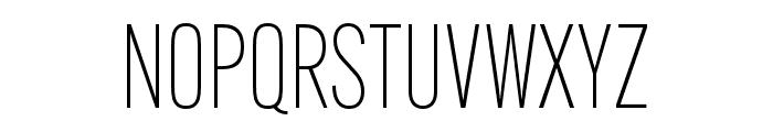 Alternate Gothic Condensed ATF Thin Font UPPERCASE