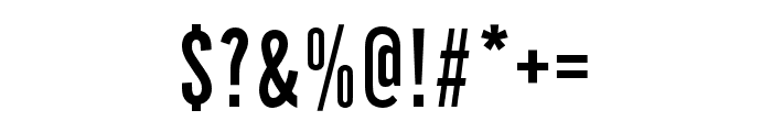 Alternate Gothic No1 D Regular Font OTHER CHARS