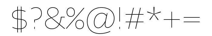 Altivo Light Italic Font OTHER CHARS